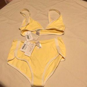 L Space bikini, top size S, bottom M, high waist